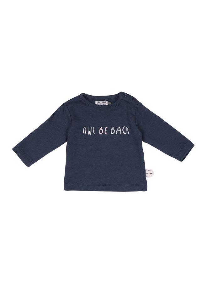 Shirt Blauw - Uil