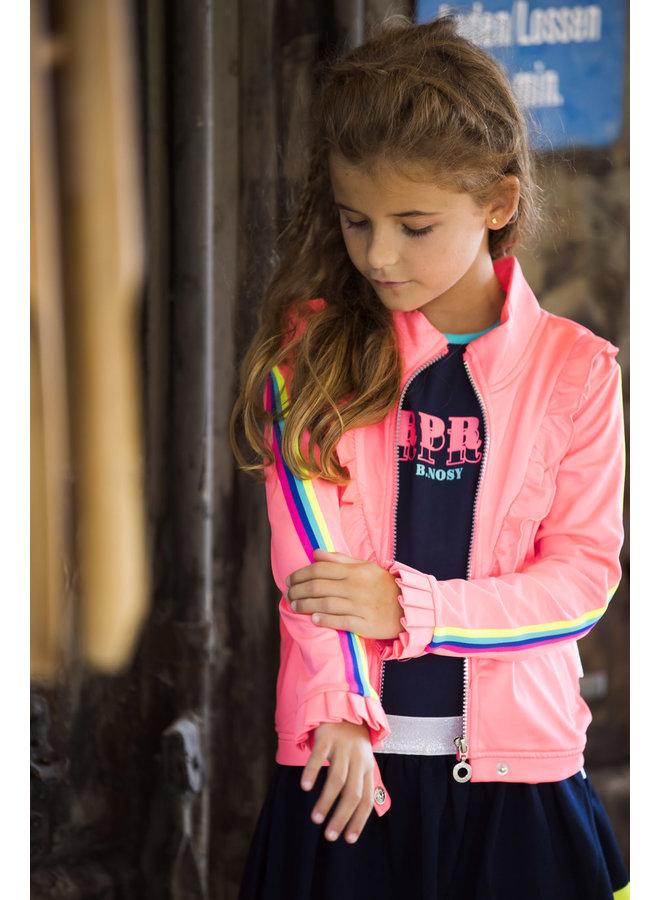 Jacket V-Shaped Ruffle - Festival Pink