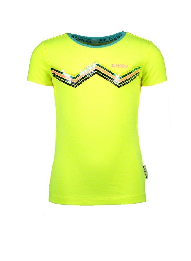 Shirt Zig Zag - Safety Yellow