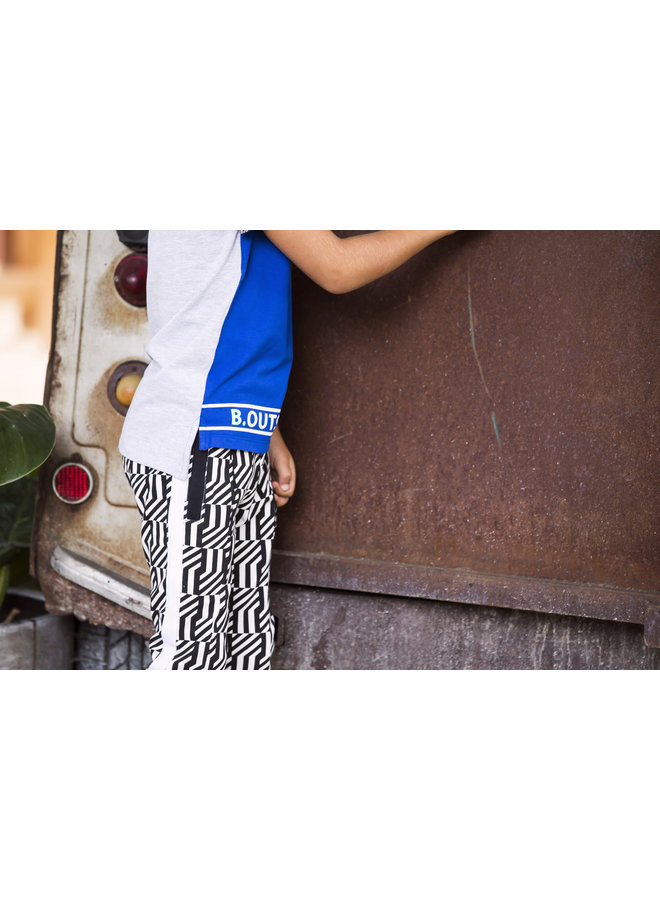 Shirt Printed Sleeve-End - Cobalt Blue