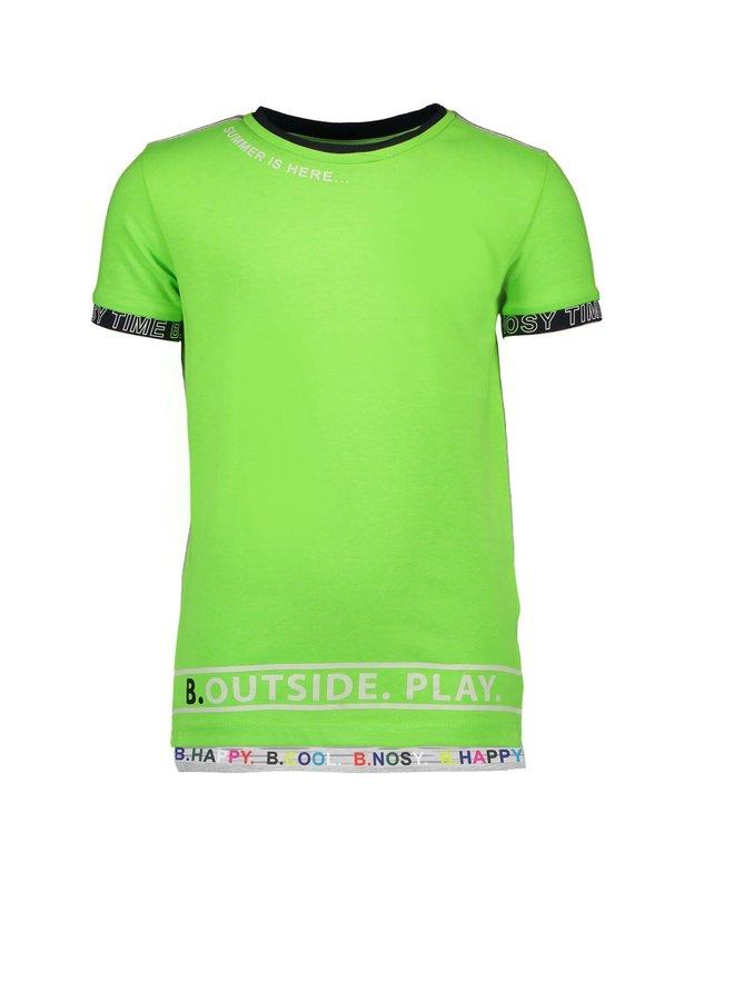 Shirt Printed Sleeve-End - Gecko Green