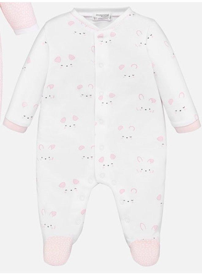 Boxpak Bunny - White/Pink