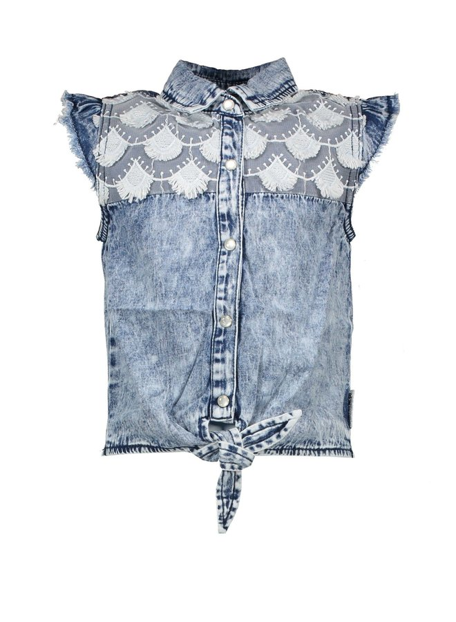 Denim Blouse - River Denim