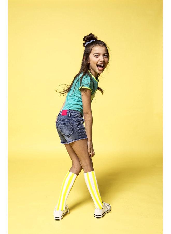 Denim Shorts - Middle Denim