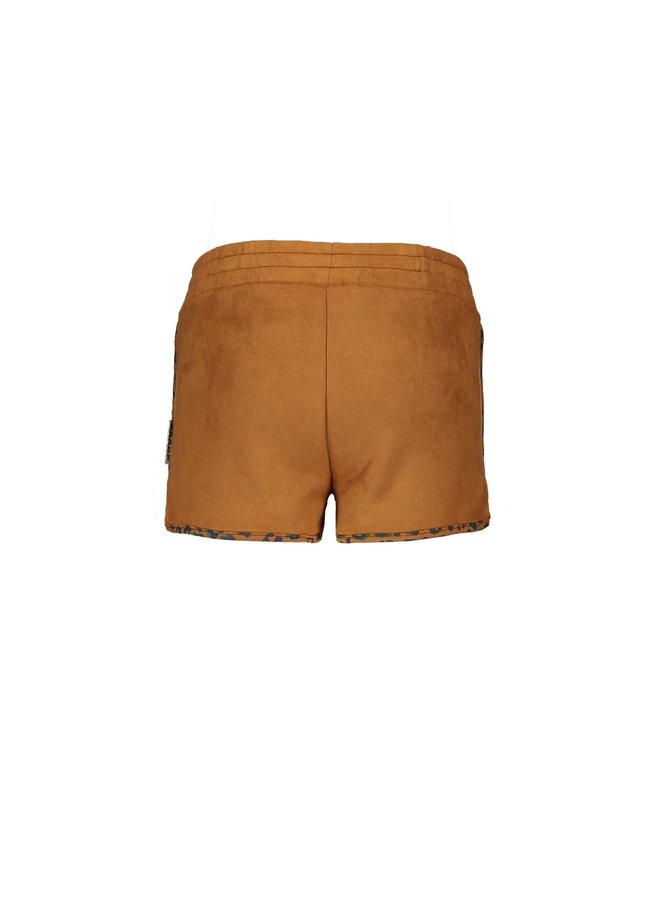 Fake Suede Shorts - Soft Brown