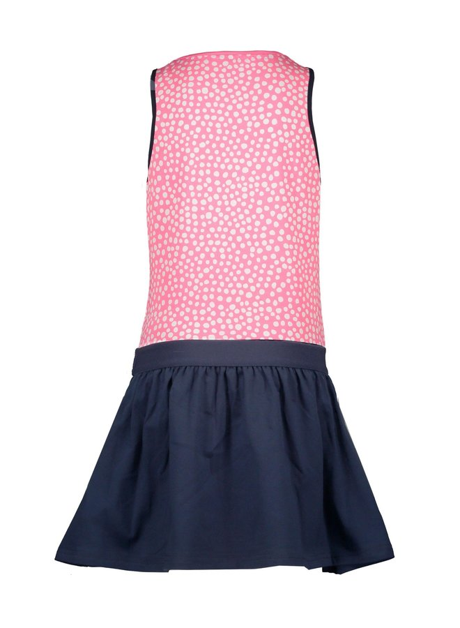Dress with Uni Skirt - Dots Pink Lollypop