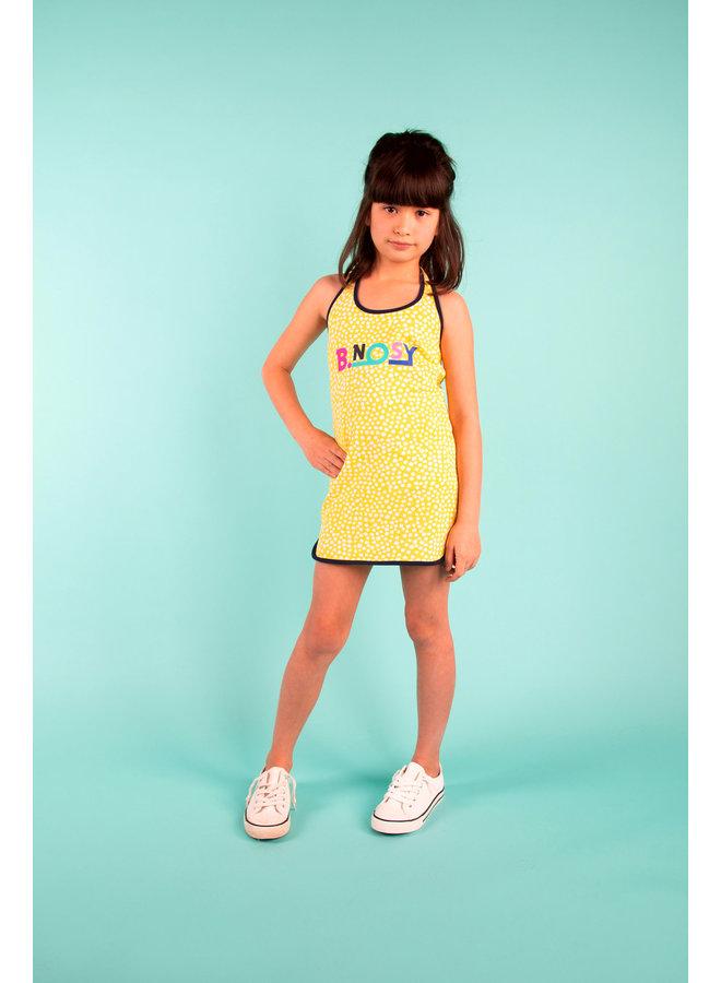 Dumbbell Dress - Dots Lemon