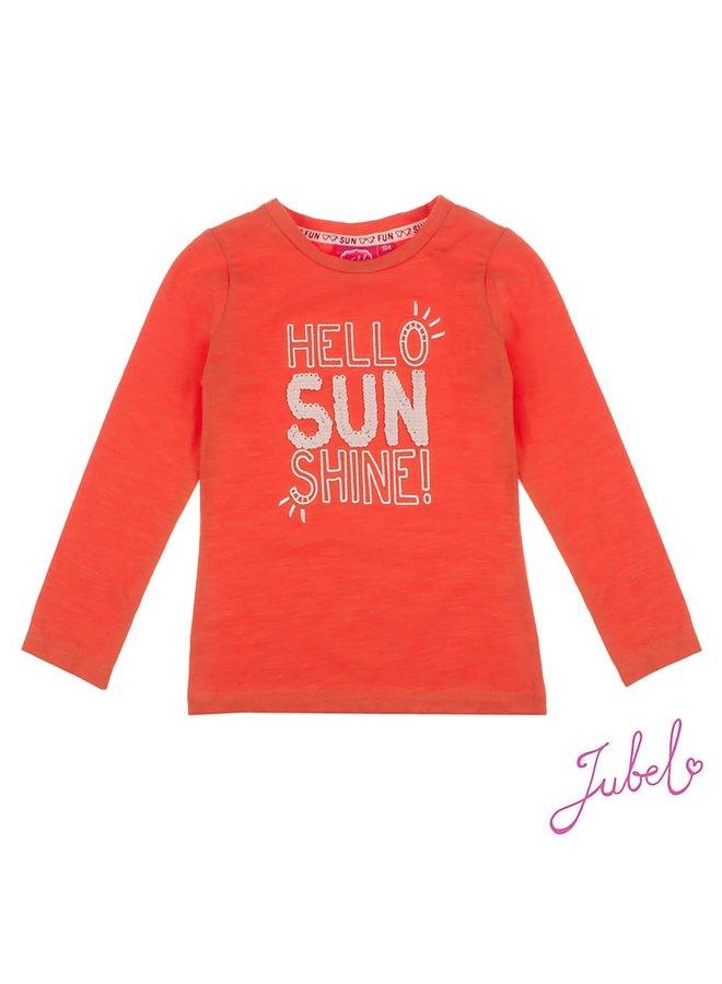 Longsleeve Hello Sunshine Rood - Funbird