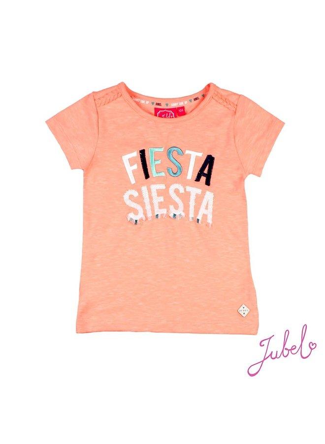 Shirt Fiesta Siesta Neon Koraal - Botanic Blush