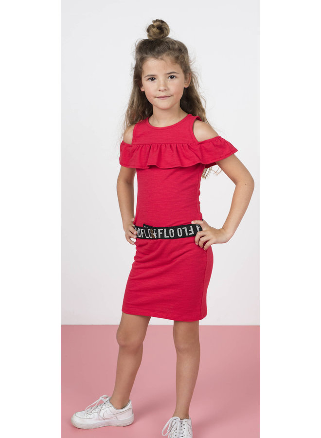 Ruffle Dress Cerise