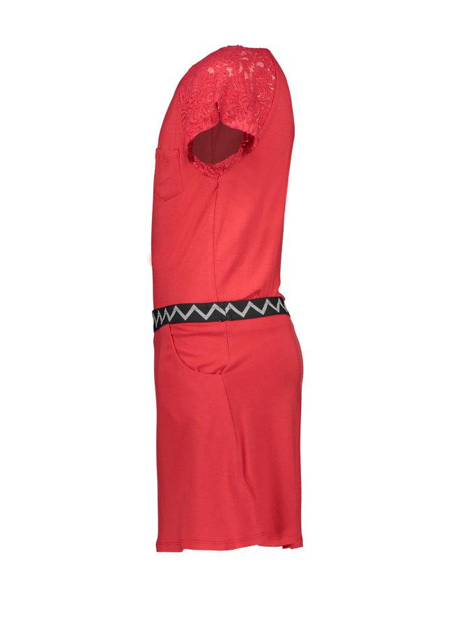 Dress Lace Cerise
