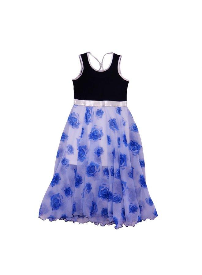 Dress Barcelona - Blue Roses