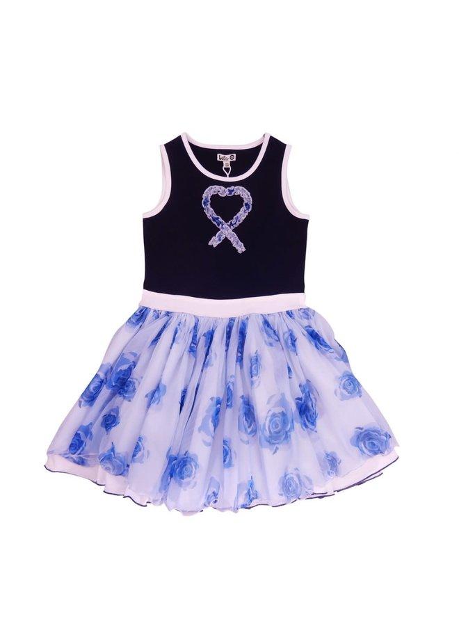 Dancing Dress - Blue Roses