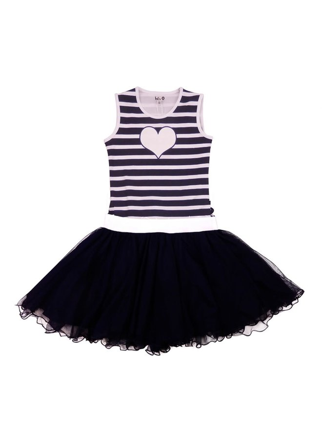 Dancing Dress - Blue Stripes