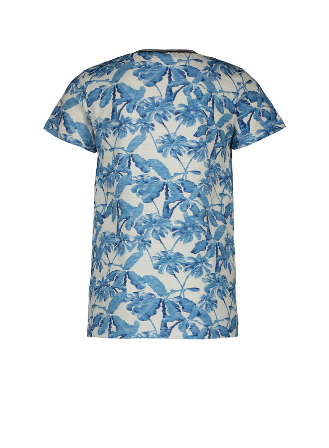 Shirt Blue Palm