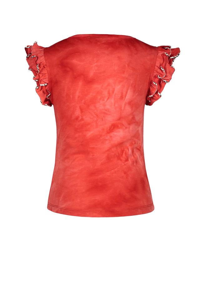 Shirt Ruffle Papaya