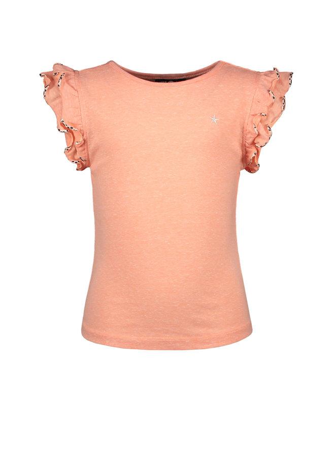 Shirt Ruffle Coral