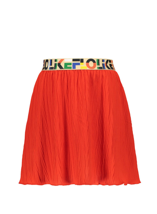 Plissé Skirt Papaya
