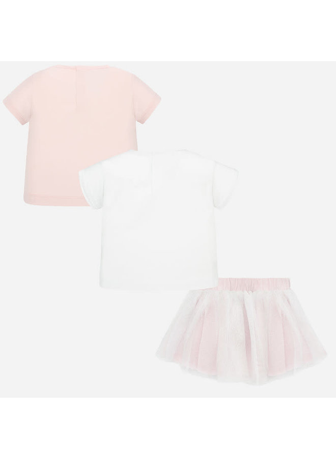 3 Piece Skirt Set Rose
