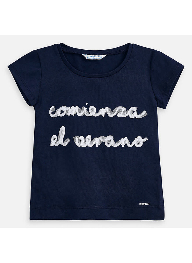Shirt Navy with Tulle
