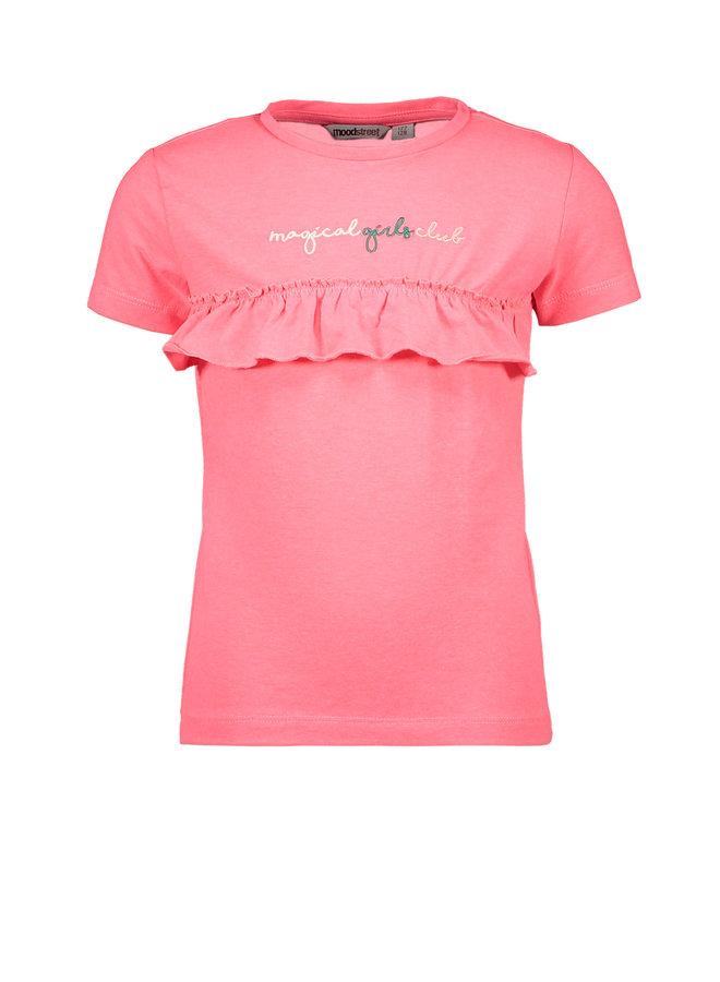 Shirt Frills - Diva Pink