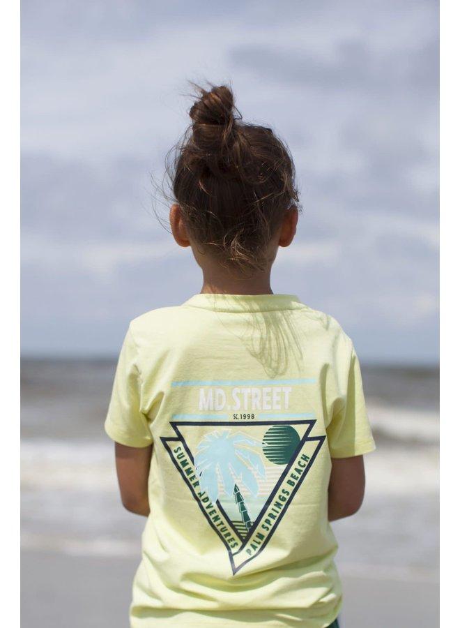 Shirt Chest & Back Print - Lime