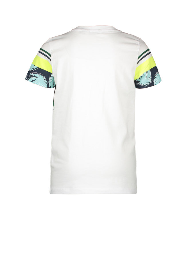 Shirt Chest & Sleeve Print - White