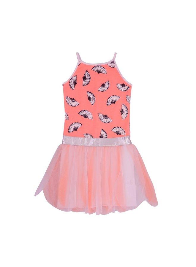 Dress Aimee - Peach/White