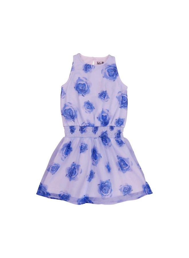 Dress Jerez - Blue Roses