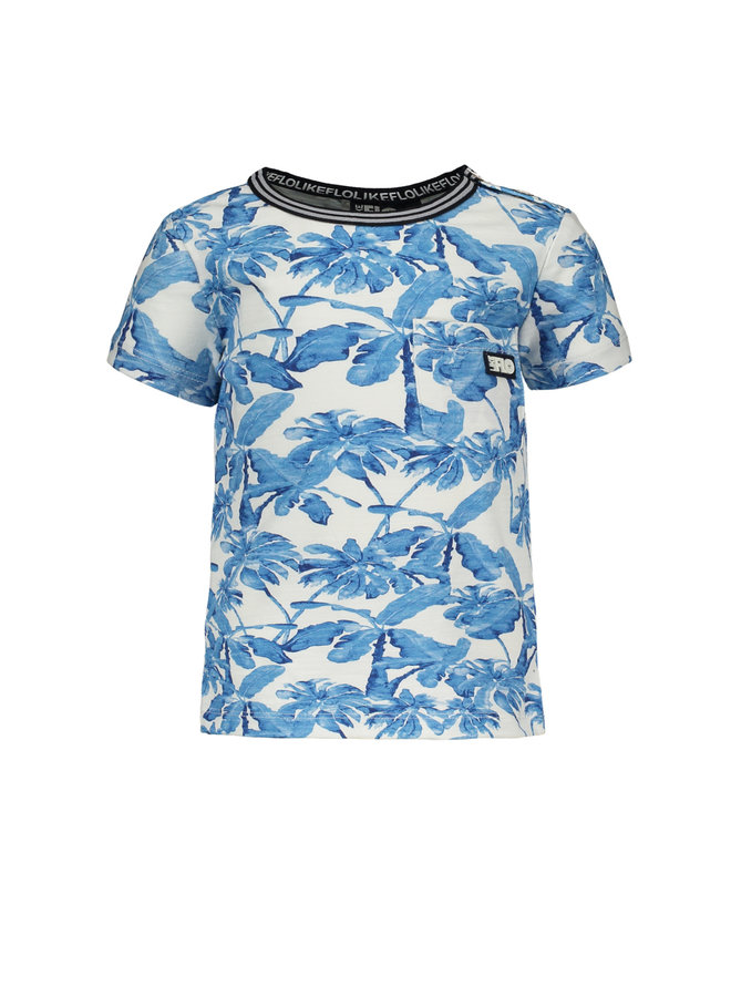Shirt Blue Palm Baby