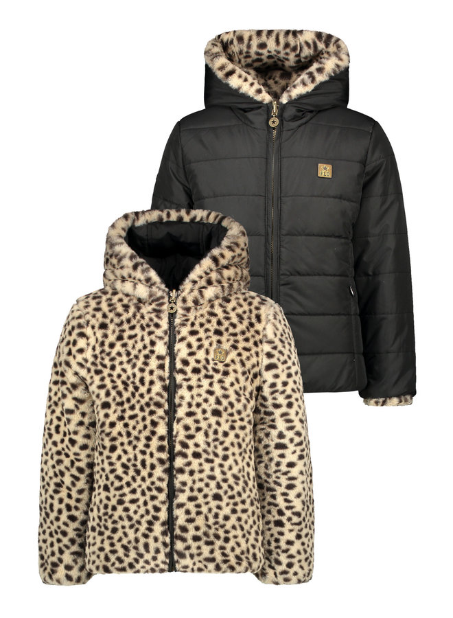 Reversible Hooded Jacket Animal