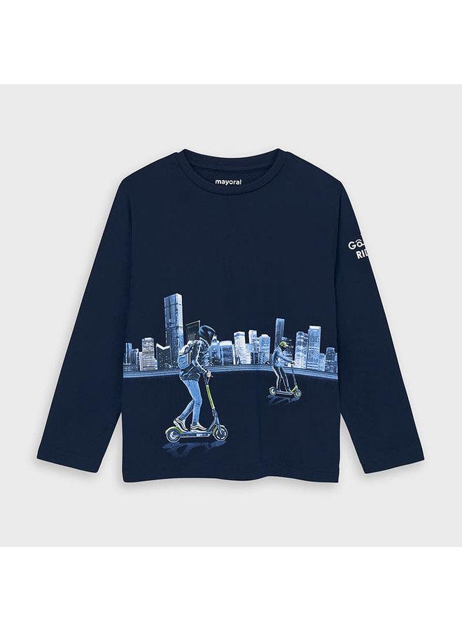 Shirt Step Blauw