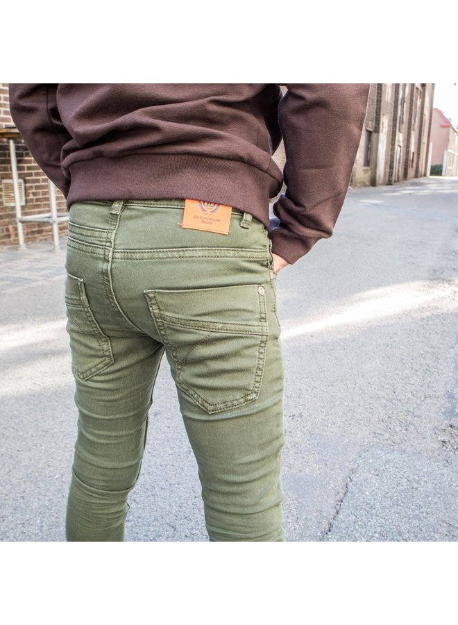 Aina - Army Green - Extra Slim Fit
