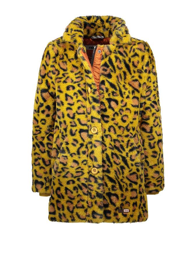 Fake Fur Coat Gold