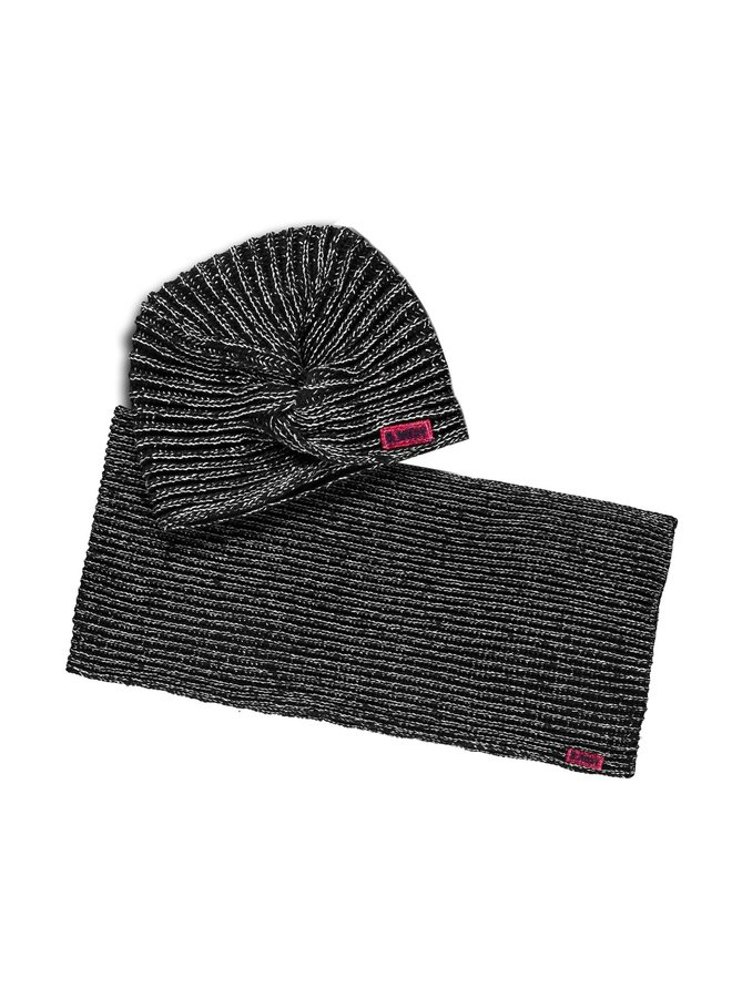 Hat And Coll Scarf - Black