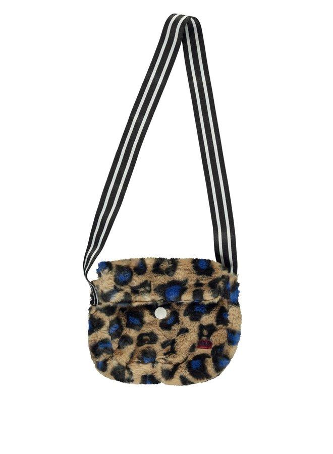 Reversible Bag - Cobalt Panther Fur