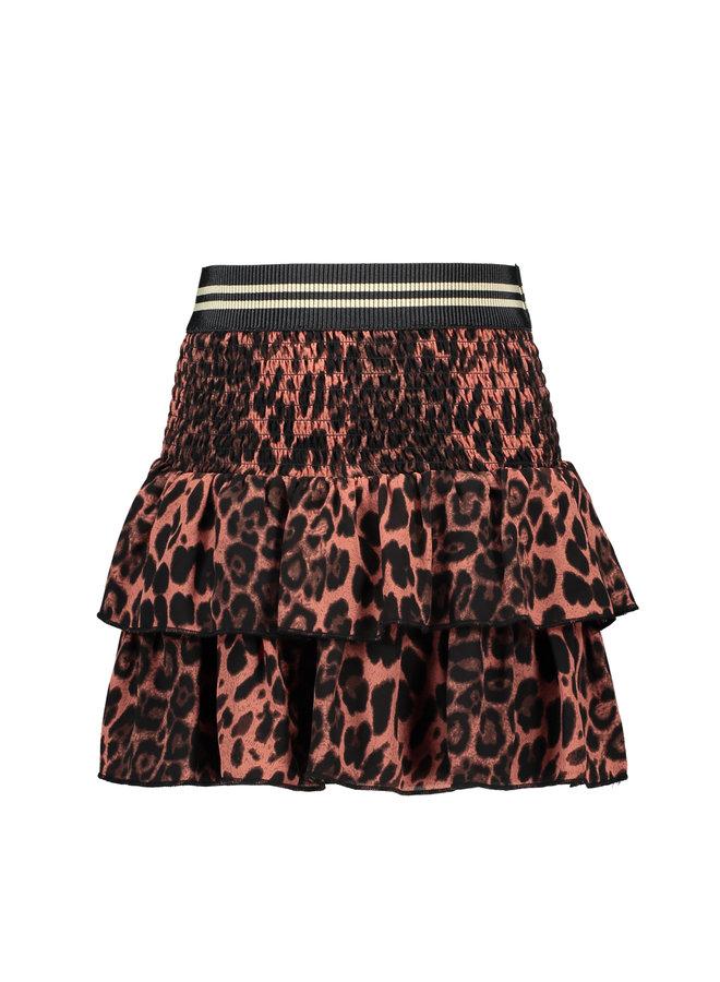 Woven Animal Smock Skirt - Old Pink