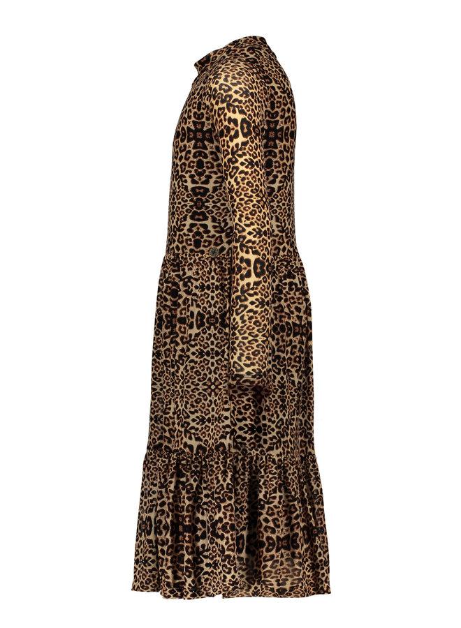 Animal Mesh Dress - Sand