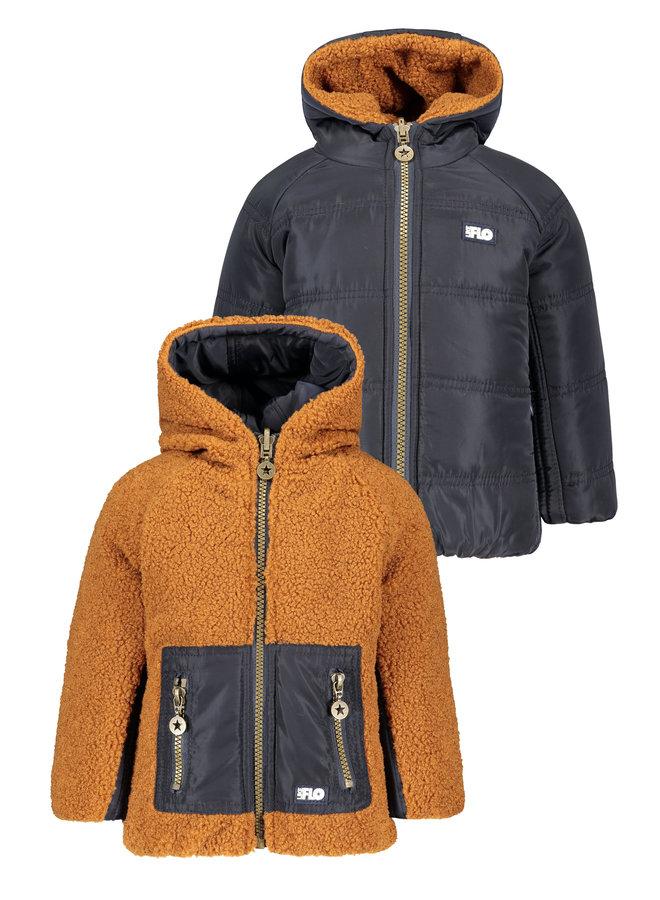 Reversible Hooded Jacket - Navy