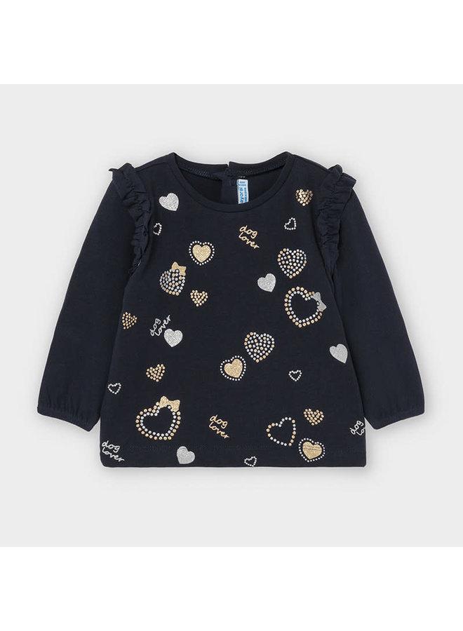 Shirt Hearts Blauw