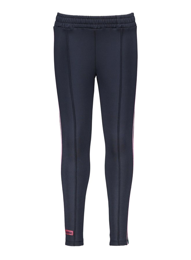 Sweat Pants Contrast AOP Stroke At Sideseam - Oxford Blue