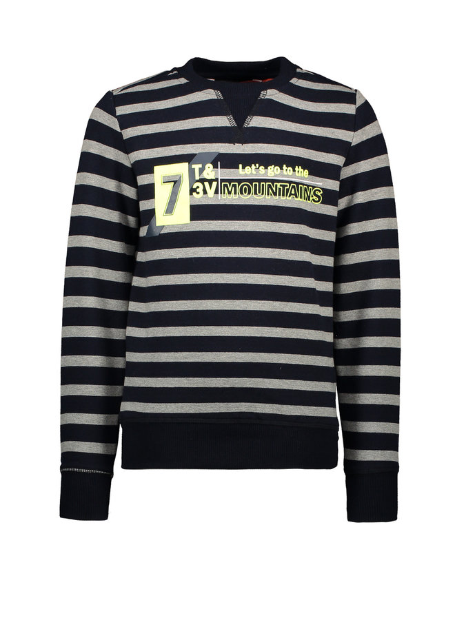Sweater Stripe Mountains - Navy