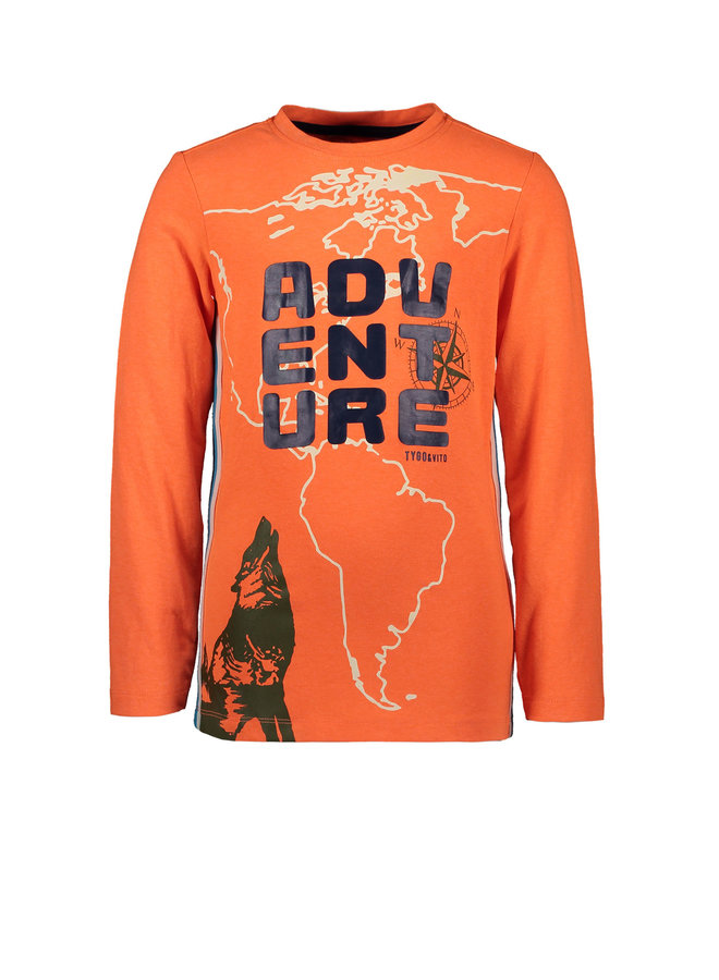 Longsleeve Adventure - Shocking Orange