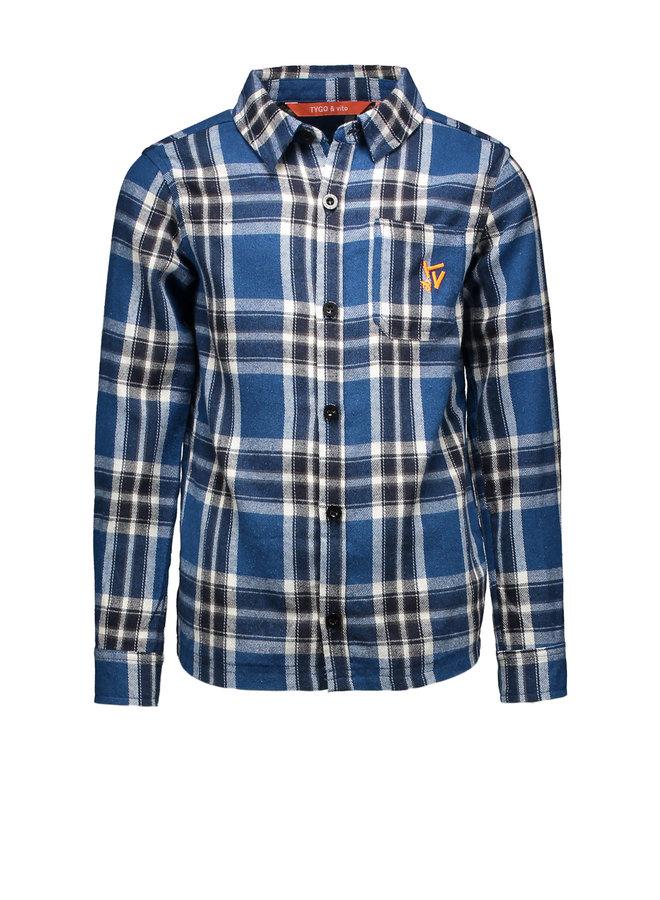 Shirt Check - Navy