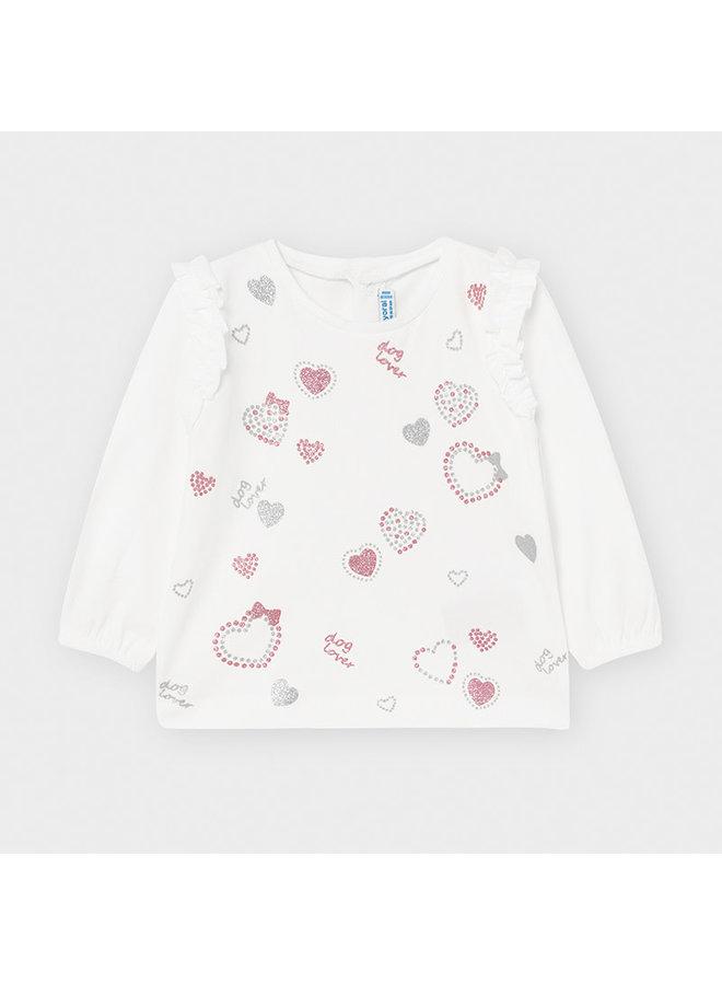 Shirt Hearts Roze
