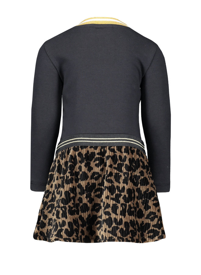 Longsleeve dress Crincle Velvet Skirt - Navy