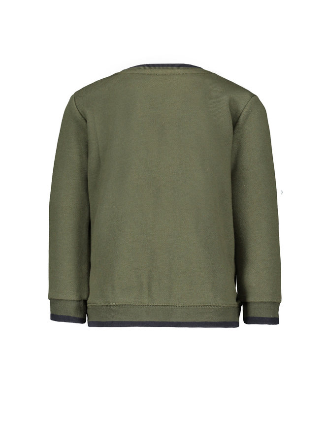 Baby Sweater Just Be A Champ - Army