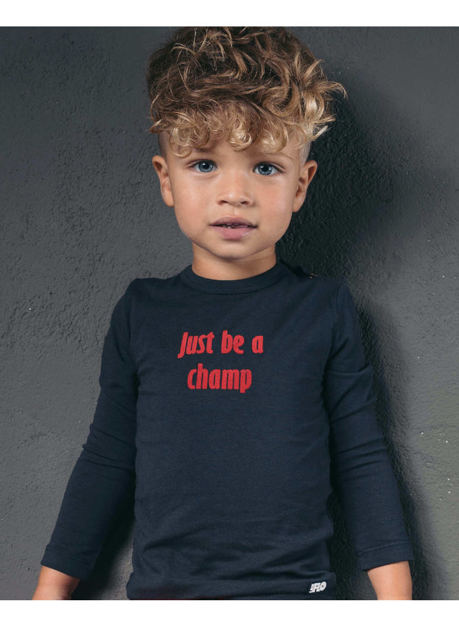 Baby Longsleeve Just Be A Champ - Navy