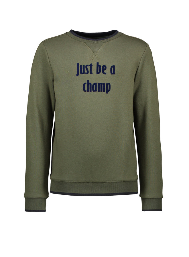 Sweater Just Be A Champ - Army