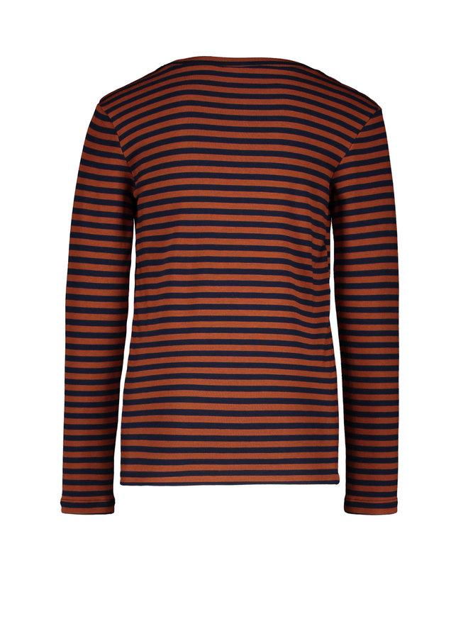 Longsleeve Stripe - Cognac